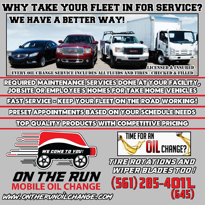 Fleet Service For South Florida Cars And Small Trucks