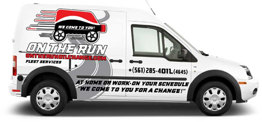 On The Run Oil Change Palm Beach And Browards Mobile Service For Cars